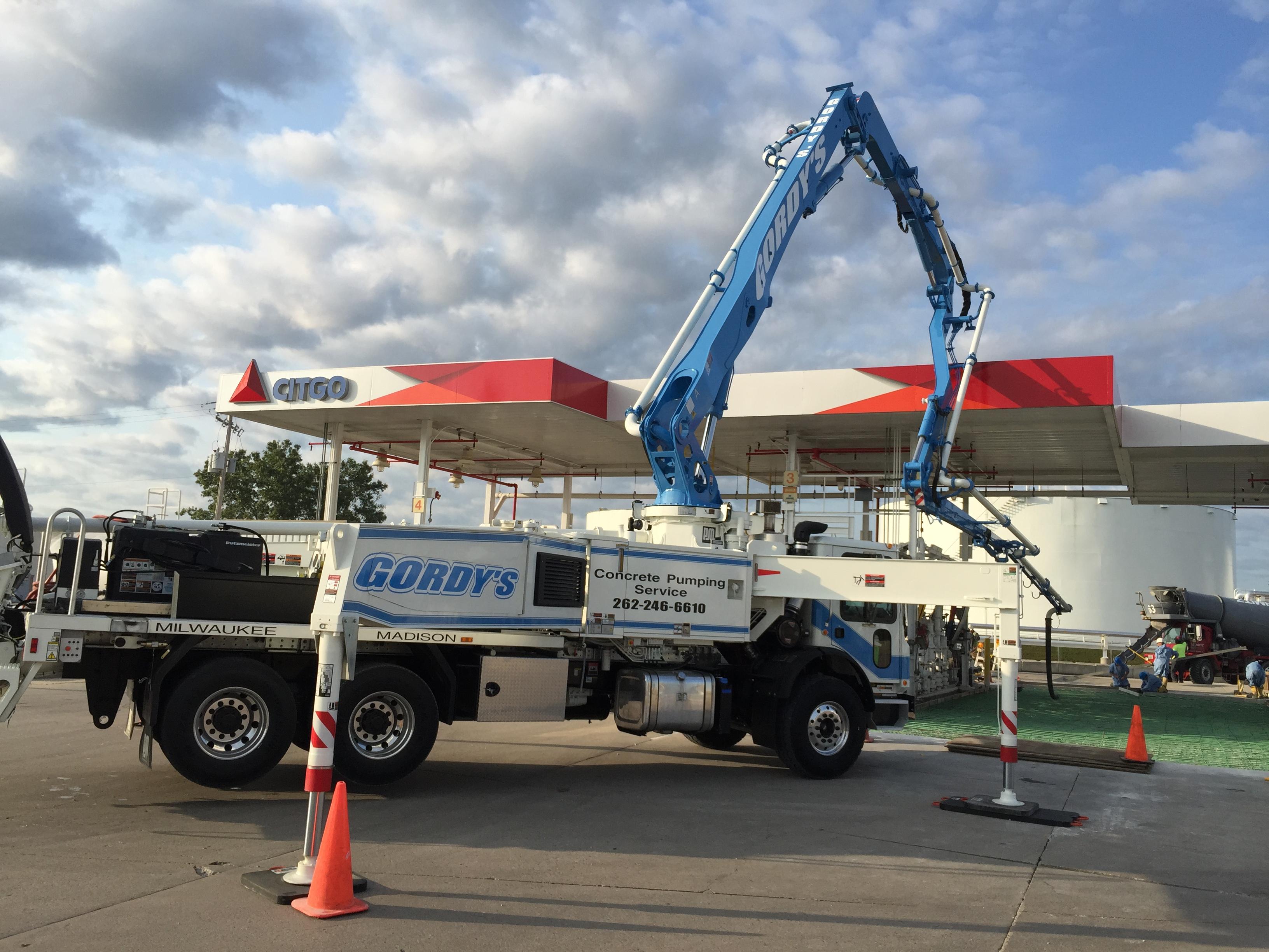 Gordy's Concrete Pumping Service provides unsurpassed
